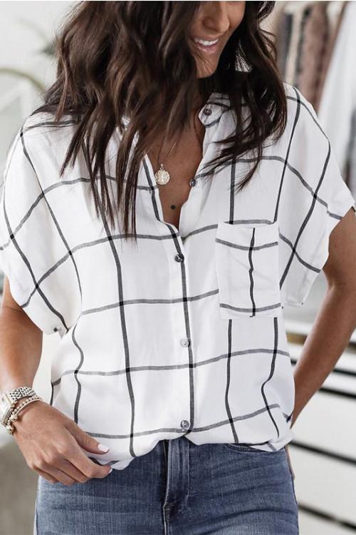 Casual Plaid Pocket Shirt
