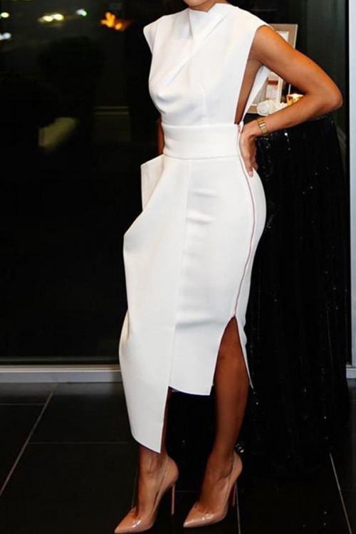 Asymmetric Sleeveless Party Dress