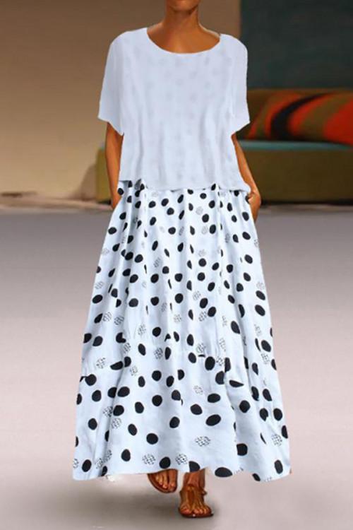 Polka Dot Two-piece Swing Dress