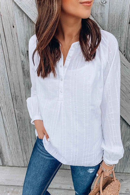 Cut Out Solid Blouse