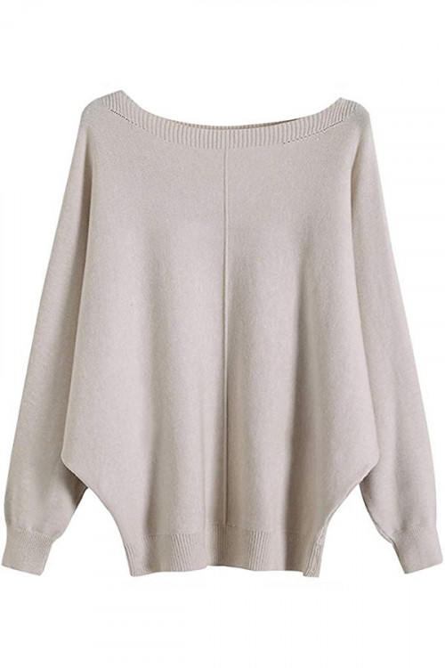Batwing Sleeve Knitted Sweater