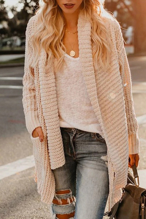 Asymmetrical Turtleneck Cardigan
