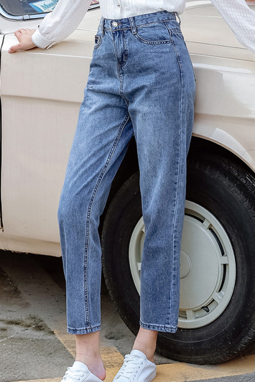 Blue Pockets Casual Jeans