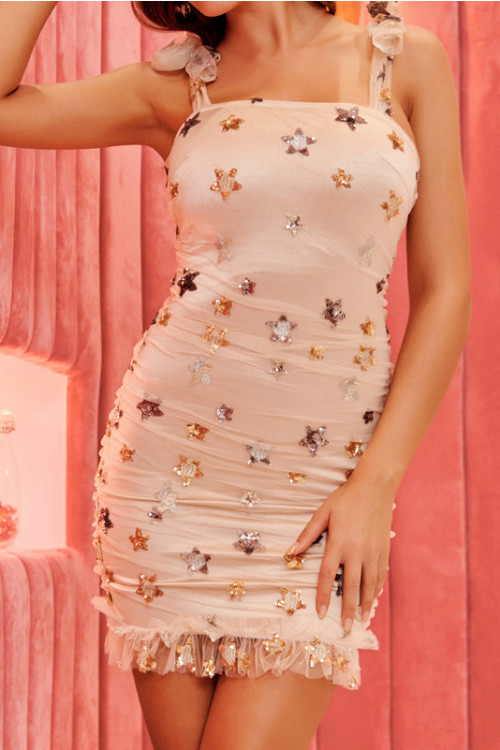 Bowknot Sequin Party Dress