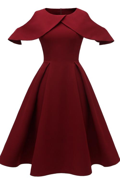 Cutout Sleeve Ruffled Dress