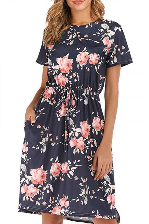 Casual Floral Print Dress