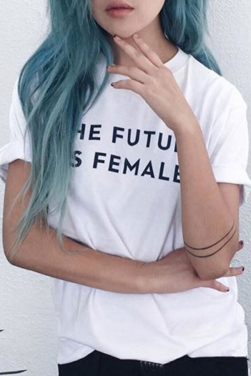 Casual Letter Print T-shirt