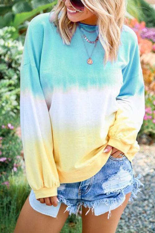 Casual Print Rainbow Sweatshirt