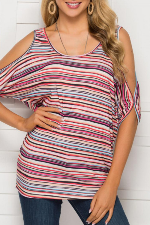 Casual Striped Loose Blouse