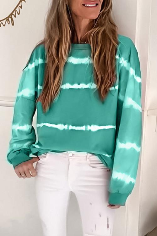 Casual Striped Sweatshirt