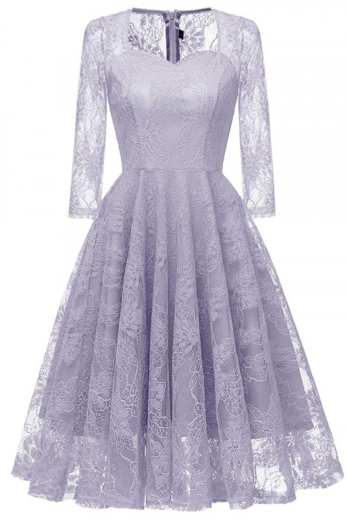 See Through Lace Homecoming Dress