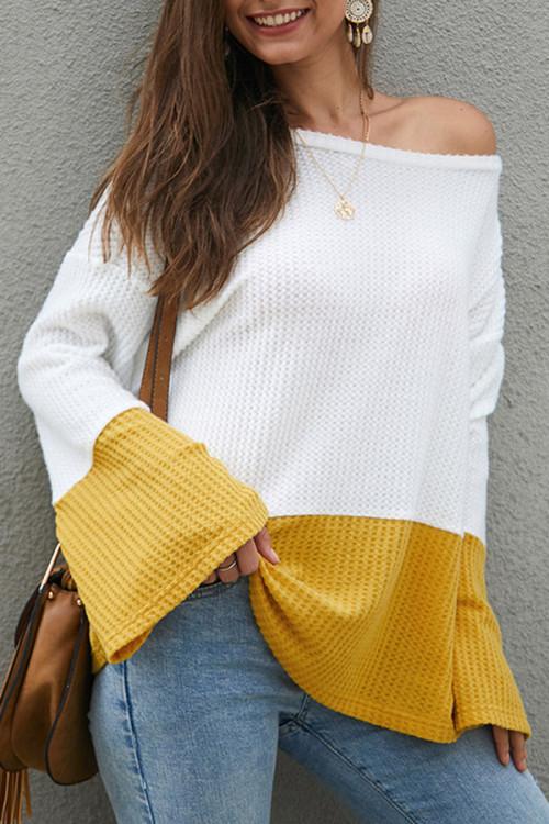 Color Block Loose Sweater