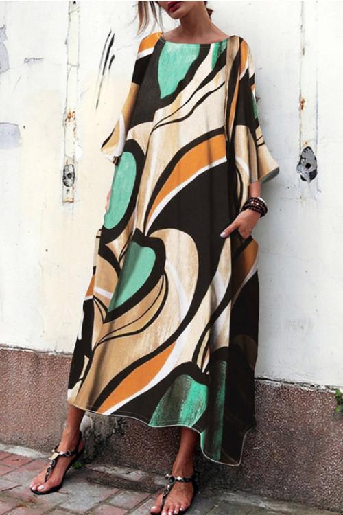 Color Block Tee Dress