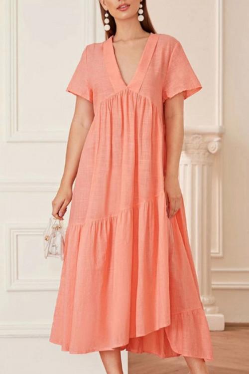 Cotton And Linen Maxi Dress