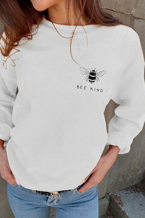 Cute Print Scoop Sweatshirt