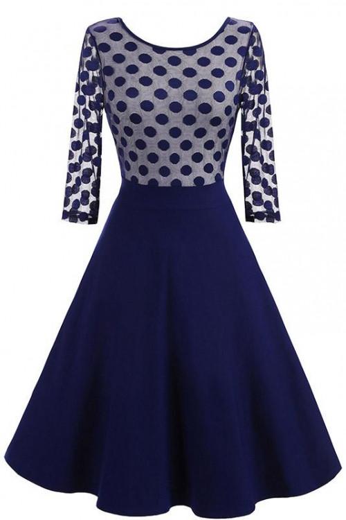 Polka Dot Patchwork Dress