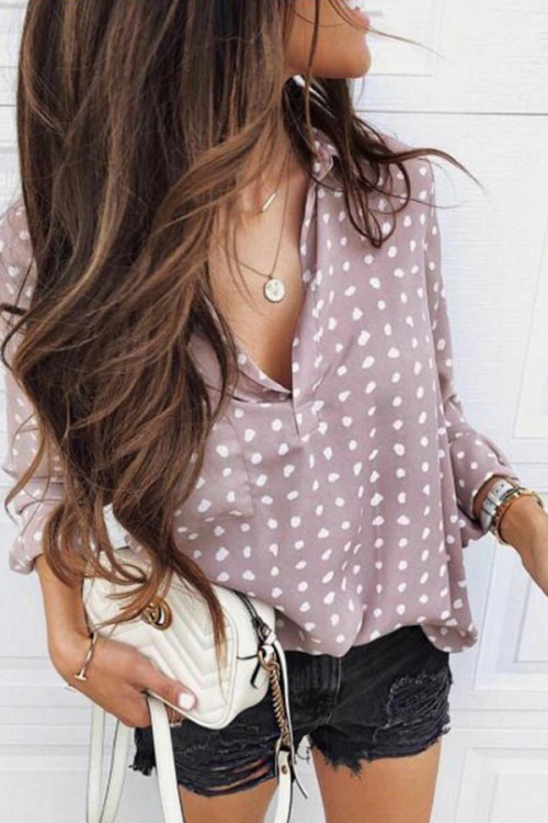Dot Polka Collar Blouse