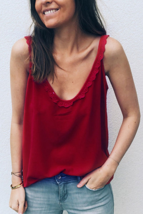 Double V-neck Tank Top