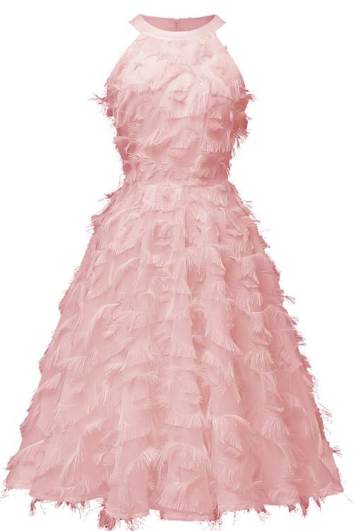 Sleeveless Tasseled Dress