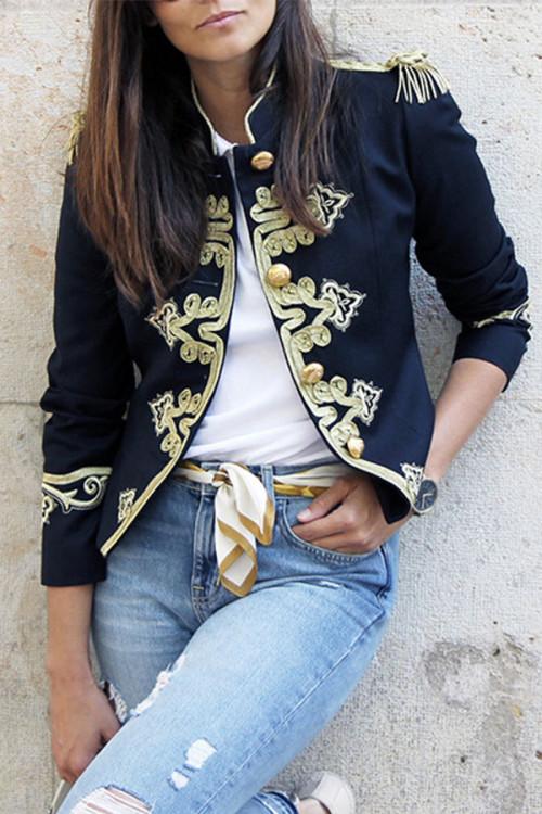 Embroidered Retro Jacket