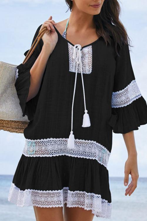 Flare Sleeve Beach Dress