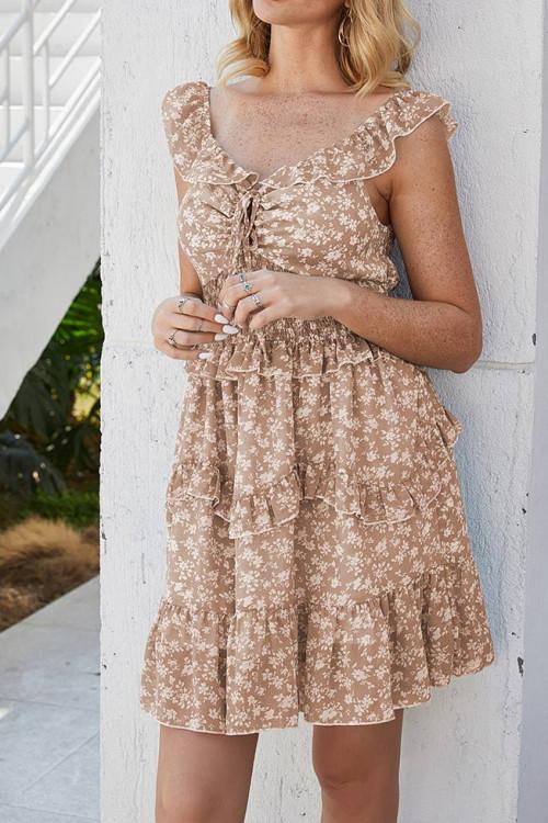 Floral Smocked Holiday Dress