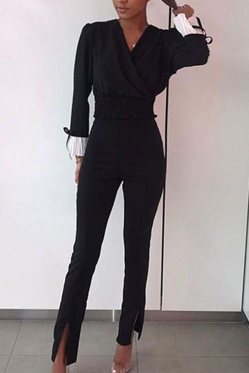 High Waisted Slit Pants