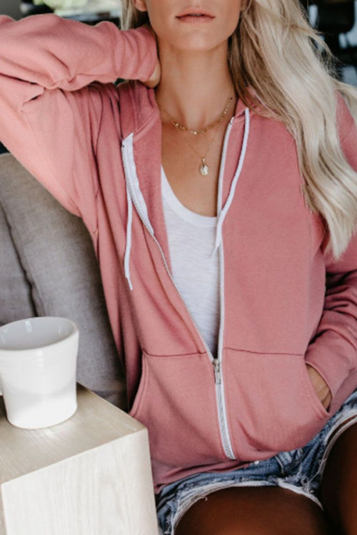Hooded Solid Sashes Coat Women's Hoodies