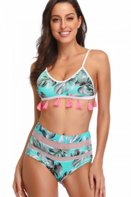 Tassel Floral See Through Bikini