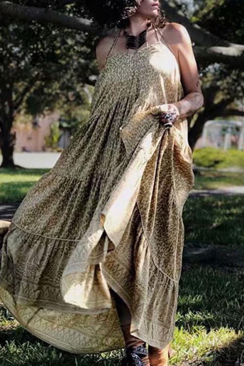Leopard Print Cami Dress