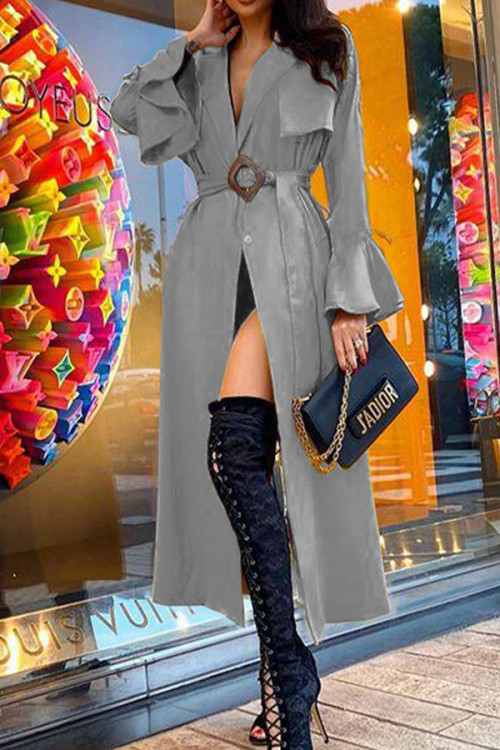Loose Belted Trench Coat
