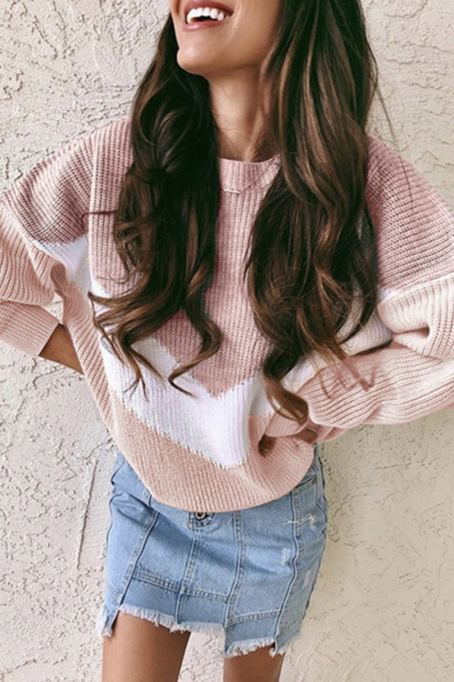 Mixed Colors Knitted Sweater