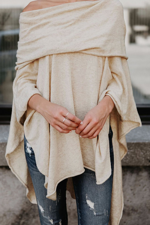 Off Shoulder Irregular Blouse