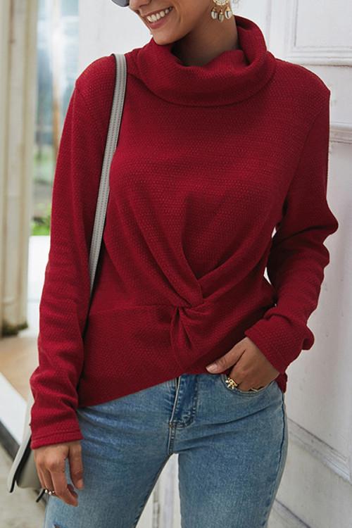Plain Turtleneck Sweater