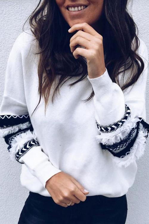 Plus Size Casual Scoop Sweatshirt