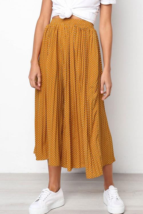 Polka Dot Pleated Crop Pants