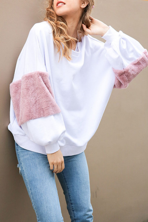 Rabbit Hair Panel Sweatshirt