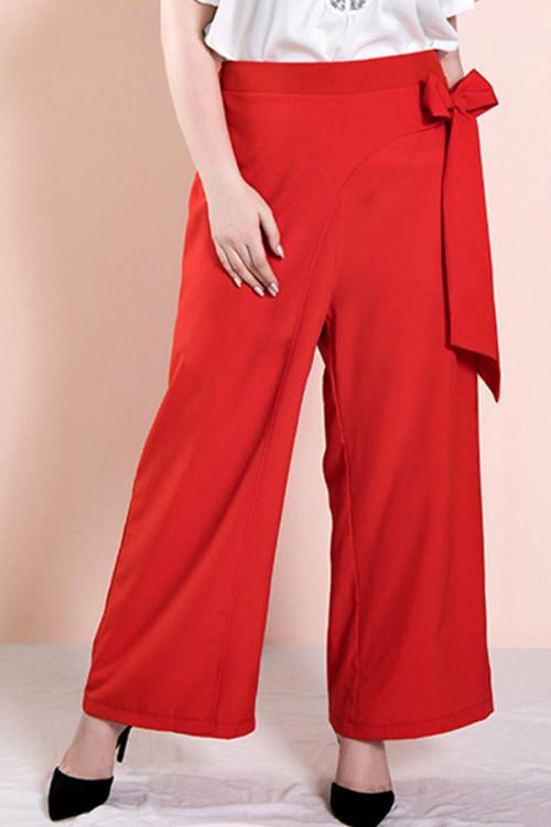 Retro Bowknot Plus Size Pants