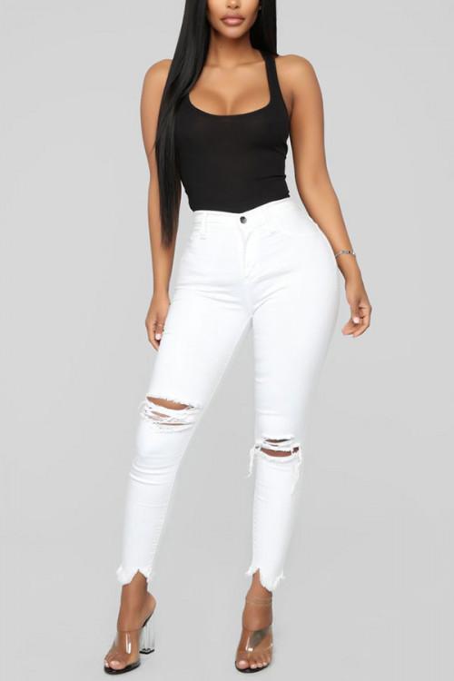 Ripped Skinny Slim Jeans
