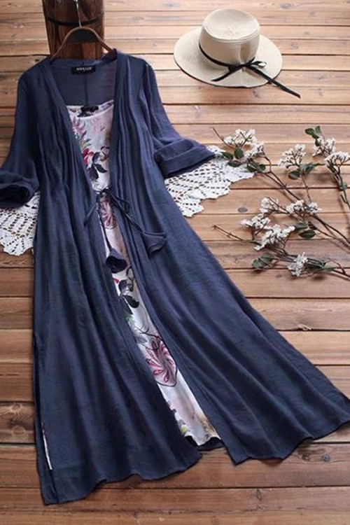 Sashes Floral Two Pieces Dress