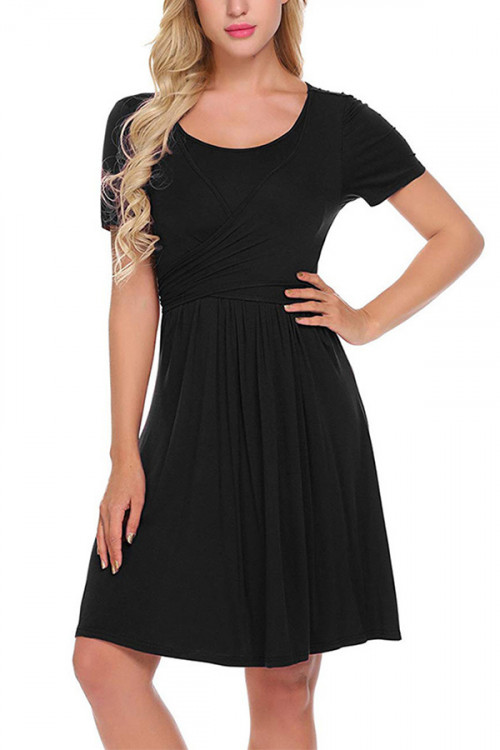 Scoop Lace-up Maternity Dress