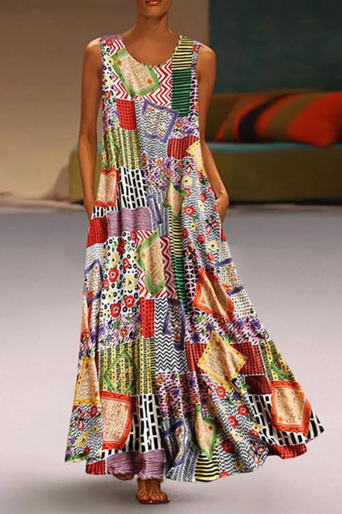 Scoop Print Tunic Dress