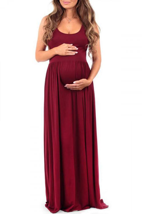 Sleeveless Maternity Tank Dress
