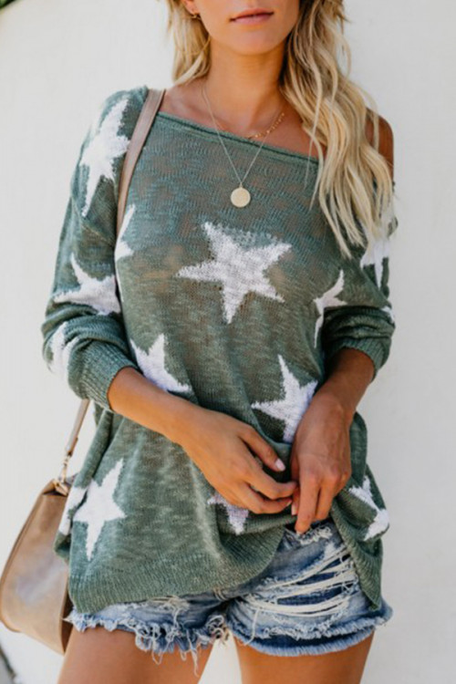 Star One Shoulder Sweater