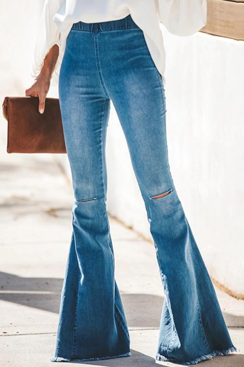 Stretch Bell Denim Jeans