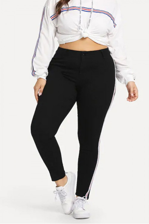 Striped Side Casual Pants