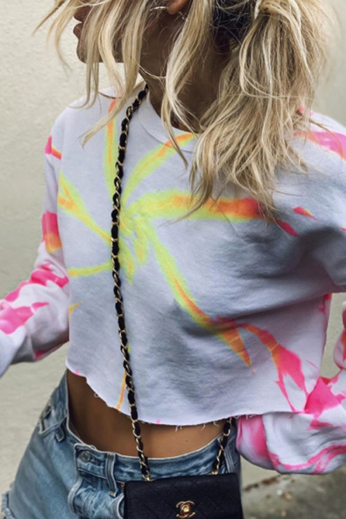 Tie-dye Crop Sweatshirt