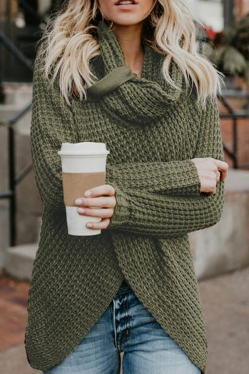 Turtleneck Solid Colour Sweater
