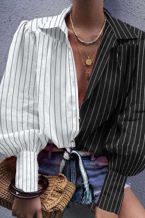 Two-tone Lapel Shirt