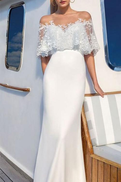 White Lace Long Dress